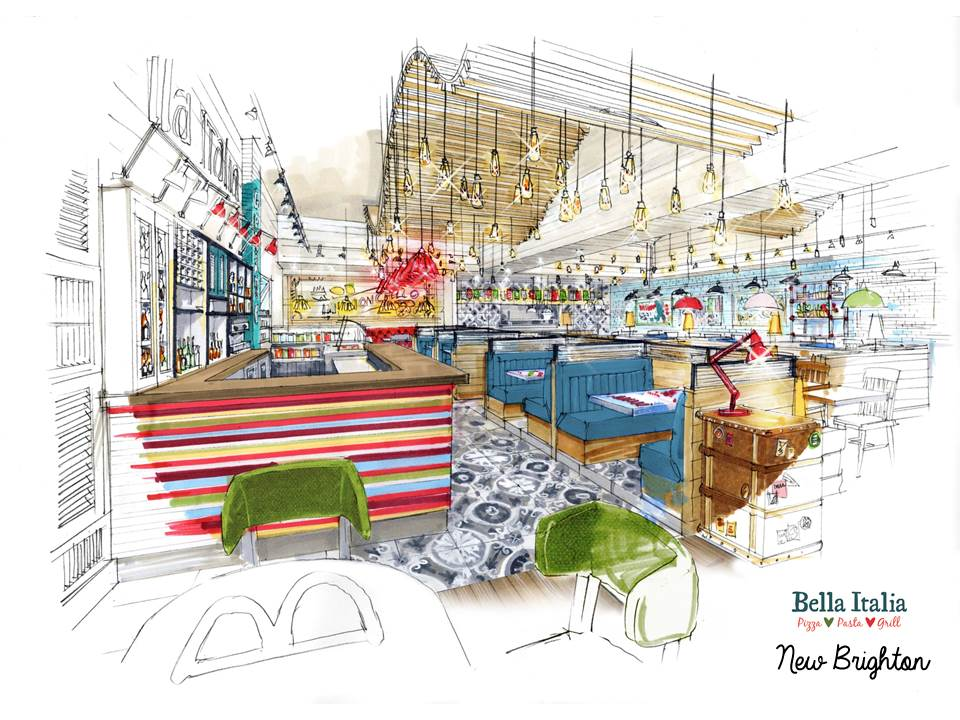 Artist Impression Bella Italia New Brighton